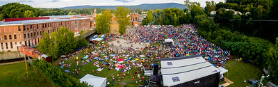 Drone panorama # 14 taken during the FreshGrass Festival 2016 at MASS MoCA in North Adams, Massachusetts, on September 16-18, 2016