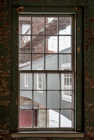 Window, Building 6 at Mass MoCA, North Adams, MA.