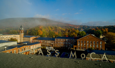 Above the letters #1, Mass MoCA in North Adams Ma.