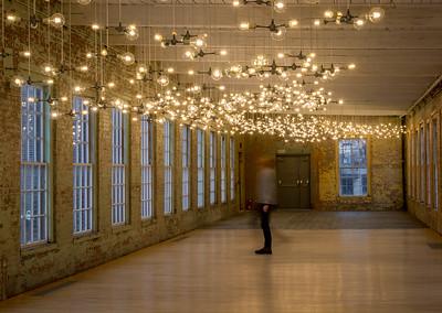 Spencer Finch exhibit , #6, Building 6 at Mass MoCA, North Adams, MA.
