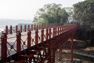 Dandi Bridge, the first bridge crossed by Gandhi on The Salt March Route, 2014, Gujarat, India.