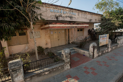 The Dharamshala, where the marchers stayed on the first night of the Salt March. Now Panchayat's Office. The Salt March Route, 2014, Gujarat, India.