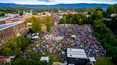 Aerial drone image #12 taken during the FreshGrass Festival 2016 at MASS MoCA in North Adams, Massachusetts, on September 16-18, 2016 #1