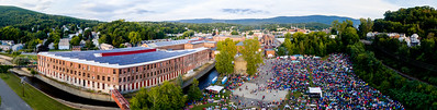 Drone panorama # 11 of the FreshGrass Festival 2016 at MASS MoCA in North Adams, Massachusetts, on September 16-18, 2016