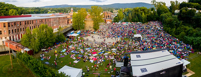 Drone panorama # 15 taken during the FreshGrass Festival 2016 at MASS MoCA in North Adams, Massachusetts, on September 16-18, 2016