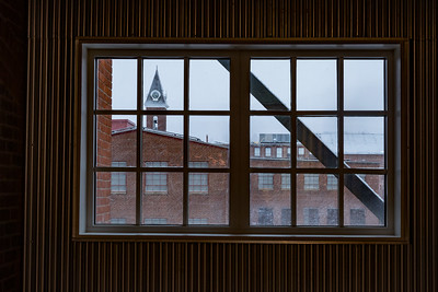 Clock tower  from Building 6 at Mass MoCA, North Adams, MA. View 5
